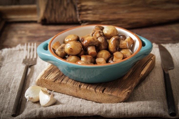 Air Fried Garlic Mushrooms
