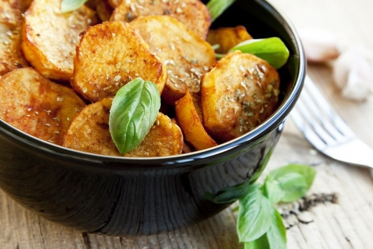 Air Fried Potatoes with Sesame