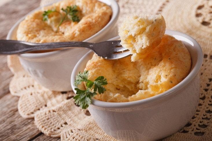 Air Fried Cheese Soufflé
