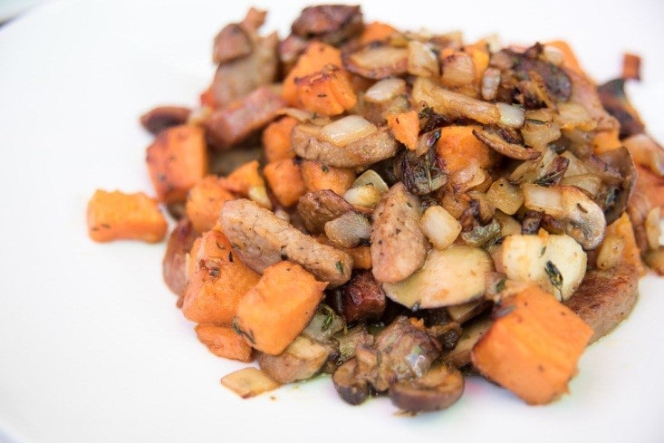 Herbed Sweet Potato Hash