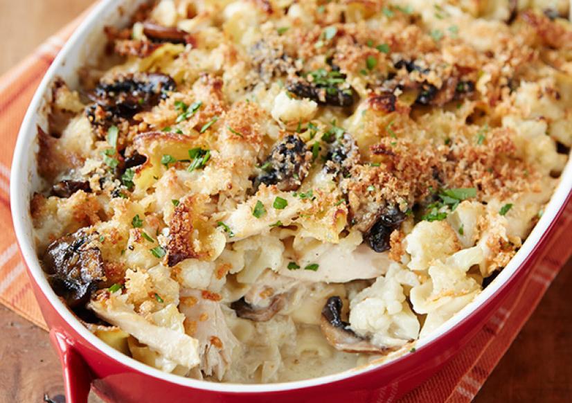Cheesy Chicken and Cauliflower Gratin Recipe
