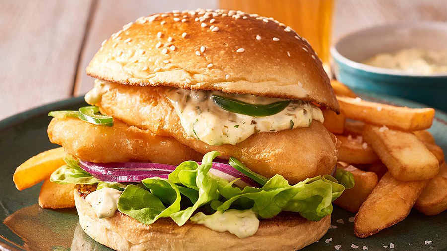 Crispy Fish Burger Patties Recipe
